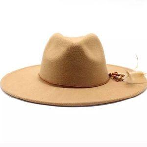 Feathered Boho Inspired Panama Hat